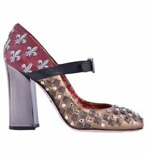 Leather Multi-Colored Pump, Classic Heels for Women
