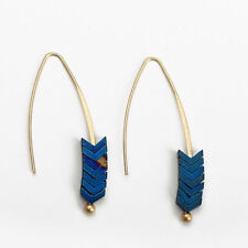 Women Jewelry Geometric Arrow Bohemian Natural Stone Earrings Simple