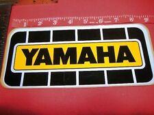 """NOS Yamaha race decal emblem team sticker 1970's 9"""" x 4"""""""