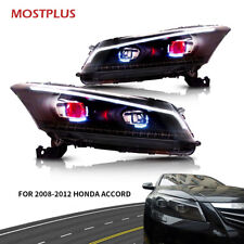 LED Headlights DRL Projector with Demon Eyes For 2008-2012 Honda Accord