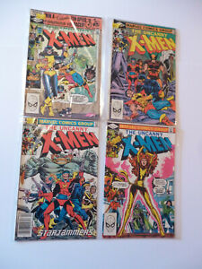 Lot x 4 Marvel Comics The Uncanny X-Men #153,155,156,157 (1982)