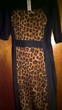 Avon body illusion animal silhouette print dress Size 12/14 New