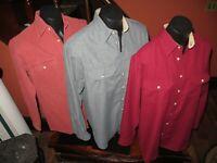 Cabela's Vintage USA 2 Polyester 1 cotton Long Sleeve  Shirts Lot of 3 Men's  L