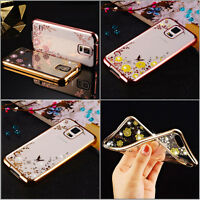 Clear Crystal Rubber Plating Shockproof TPU Soft Case Cover For Samsung Galaxy