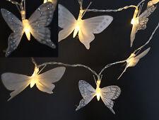10 CADENA DE LUCES LED mariposas GRANJAS DE LA Batería Decoración Navidad