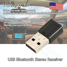 USB Wireless Bluetooth 3.5mm Car Audio Stereo Music Auto Receiver Adapter AUX US