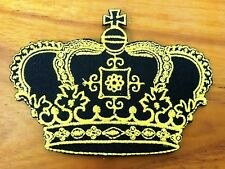 CROWN Patches Sewing On Embroidered Applique Fabric Patch for Jacket Badge
