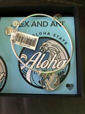 ALEX and ANI Aloha Hawaii bracelet Silver And Blue NEW NWT