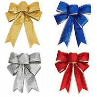 Christmas Tree Bowknot Present Party Gift Ornaments Xmas Decor 5Pc Large Bows