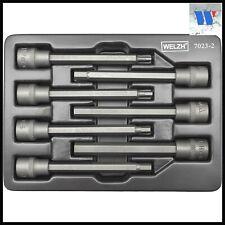 Welzh Werkzeug 3/8 Extra Long Allen Key Hex Bit Socket Set S2 STEEL H3-H10 110mm