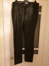 Ladies Faux Leather leggings la redoute castaluna size 18 trousers brand new