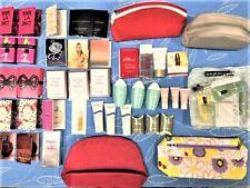 Prada Lancome Dior Clarins Fragrance Vial Sample Perfume + Cosmetic Bag Lot New