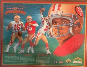 1994 UD Limited Edition Sheet Joe Montana SB Champion 1191/30,000 Free Shipping