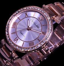 Excellanc Uhr Damenuhr Armbanduhr Silber RoseGold Farben Metall STRASS R2 25