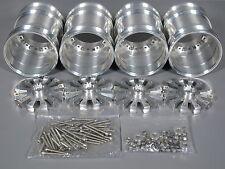 4pcs Aluminum Wheel Rim Tamiya RC 1/10 Clodbuster Bullhead TXT-1 Juggernaut 1&2