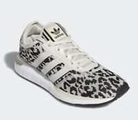 Adidas Swift Run X Leopard Shoes FY2998 Raw White Black Womens Size 8 NEW