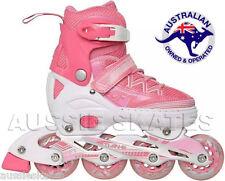 Girls Kids Adjustable Roller Blades Rollerblades Inline Skates Euro 35-38 US 4-6