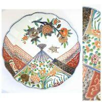Japanese Imari Ware  plate  Floral pattern Scallop Rim Plate 19th Century