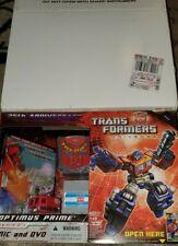 Transformers classics Optimus Prime G1 25th Anniversary Comic DVD rare mint box