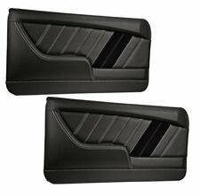 Sport R Molded Door Panel Set - Black - for 1968 Camaro by TMI