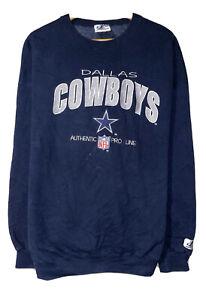 Dallas Cowboys Vintage Men's Sz XL Blue Logo Athletic Embroidered Sweatshirt USA
