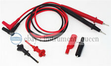 Test lead sharp tip with screw+Probe Hook Clip 62mm+Aligator clip for Multimeter