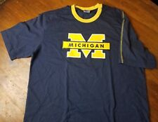 Michigan Wolverines US College Collection T Shirt Men's Size L Blue Yellow NCAA