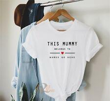 Diese Mumie gehört-CUSTOM T Shirt Muttertag Geschenk, Personalisierte Mama TOP
