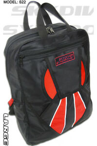 Large Skydiver Syndrome Backpack Book Bag Parachute Rig Container Red L S22