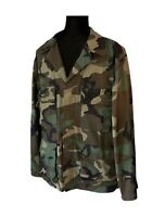 Vintage Camouflage Army Jacket Camo Jacket Camo Military Jacket Men's Medium (R)