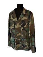 Vintage Camouflage Army Jacket Camo Jacket Camo Military Jacket Men's Medium (R)