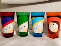 South Park Flashed Pint Glasses Cartman Kyle Stan Kenny EUC