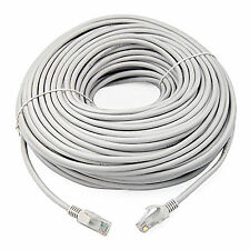 15m White External Outdoor Network Ethernet Cable Cat5e LAN PC Router Modem  RJ45