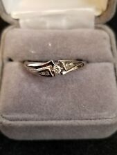 10k white gold diamond ring LOT I