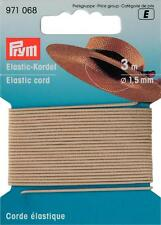 Prym Goldzack Elastic-Kordel 3 m 1,5 mm Hutgummi Bastelgummi beige 971068