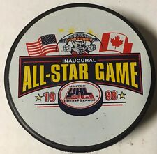 1998 UHL All-Star Game Hockey Puck Port Huron Border Cats