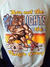 Vintage 80s Spuds MacKenzie Party's Over Funny Parody Budweiser Sweatshirt Shirt