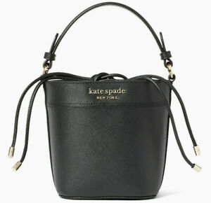Kate Spade Cameron Small Bucket Bag Black Leather WKRU6712 NWT Ret Shoulder