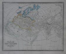 Original 1833 Meyer Ancient World Map CIRCUITUS ORBIS TERRARUM VETERIBUS COGNITI