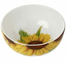 "Portmeirion Botanic Blooms sunflower rimless bowl 14cm / 5.5"""