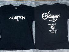 Stussy COMPTON USA Hood Tour T Shirt Large EXCLUSIVE Santa Ana Bronx Brooklyn