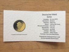 Certificado para 20 euros Deutscher bosque roble 2010 sin moneda de oro