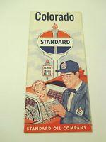VINTAGE Standard Oil Colorado Gas Service Station Road Map~1957 Estimate-Box A2