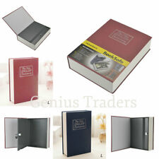 Secret Dictionary Book Metal Safe Security Key Lock Money Cash Jewellery Box