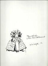 SUPERBE DESSIN ORIGINAL SUR FEUILLE DE PIERRE WININGER ( ANGOULÊME 1981 )