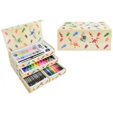 54 Piece Carry Art Set with Drawers Christmas New Kids Crayons Pencils