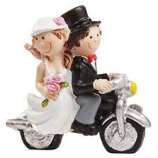 CREApop® Hochzeitspaar mit Roller oder Motorrad 6 cm x 5 cm, Tortenfigur