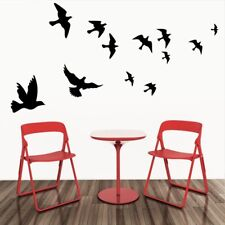 Black Flying Birds Wall Stickers Bedrooms Decorations Animals Decals Removable