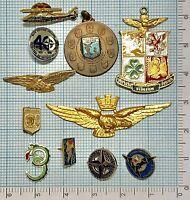 923) Lotto N 11 Distintivi Aeronautica Repubblica Italiana
