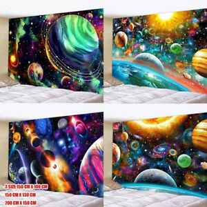 Universe Space Galaxy Planets Tapestry Wall Hanging Hippie Throws Art Tapestries